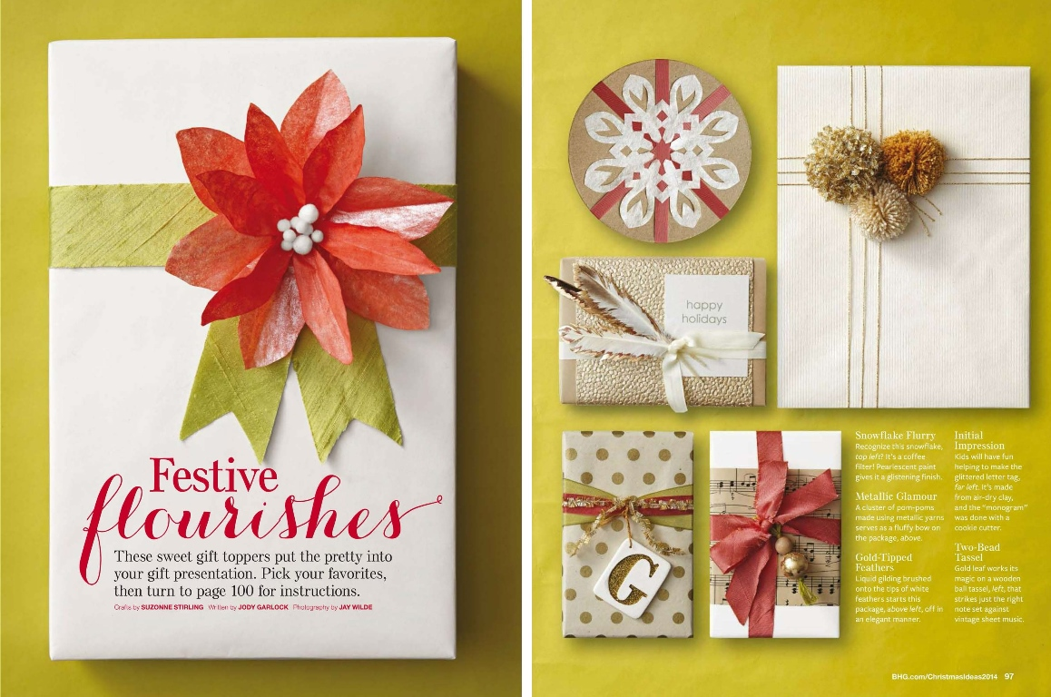 Midori Ribbon are featured in Christmas Ideas 2014