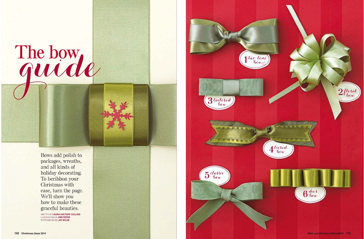 Christmas Decoration Ideas With Ribbon : Midori ribbon are featured in christmas ideas