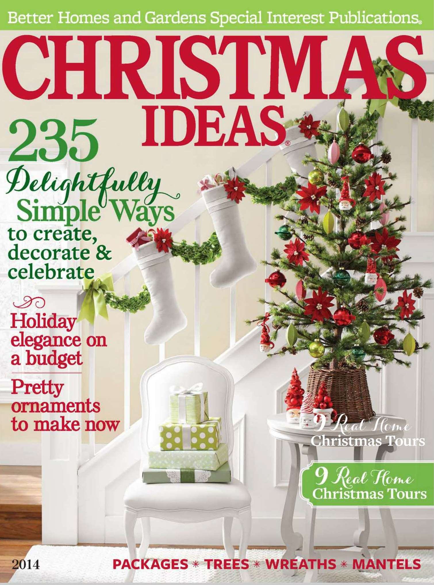 Festive flourishes in better homes and gardens christmas Better homes and gardens garden ideas